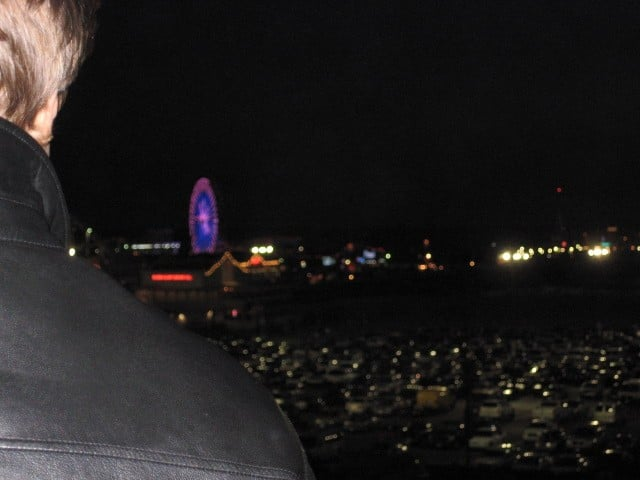 Ferris wheel and Pier at night. What am I so afraid of?
